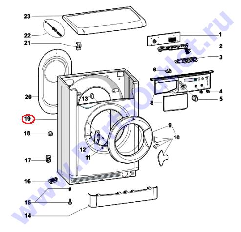 схема электросхемы главного блока управления стиральной машины индезит iwuc 4105